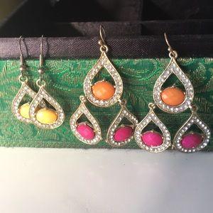 Bright 2 pairs earrings
